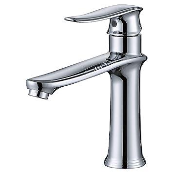 MSTJRY Wasserhahn Bad Waschtischarmatur Chrom Messing Mischbatterie Armatur  Bad Waschbeckenarmatur Badarmatur Waschbecken Wasserhahn Badezimmer  Klassischer ...