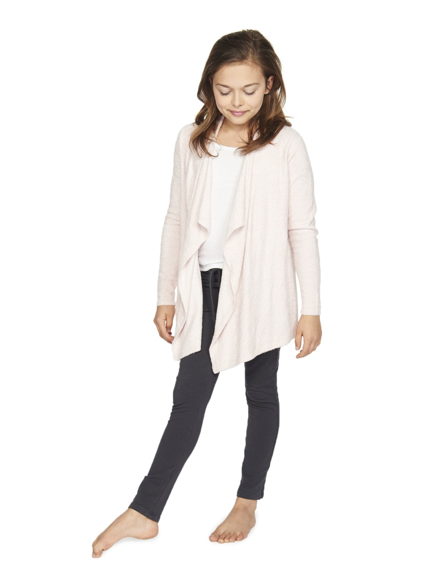 BAREFOOT DREAMS BCL YOUTH HEATHERED CALYPSO WRAP (10-12, Petal/ Pearl)