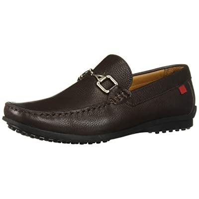 MARC JOSEPH NEW YORK Mens Grainy Leather Carneige Hill Buckle Loafer, Brown, 8.5 M US | Loafers & Slip-Ons