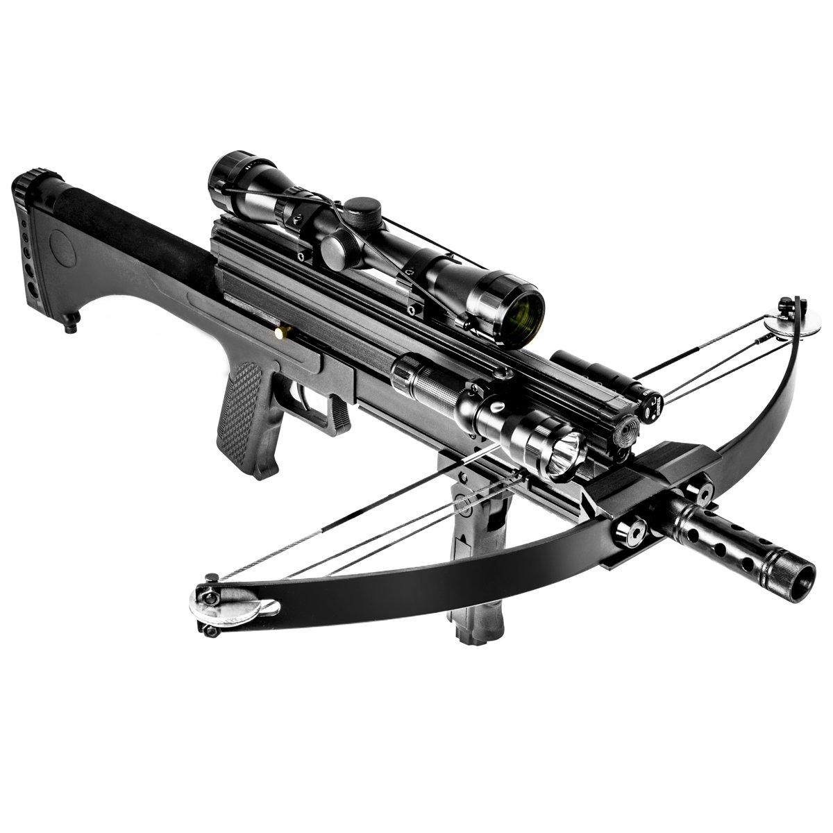 XtremepowerUS Multifunctional Crossbow 80 lbs 160 fps Hunting Equipment 200 Magazine Capacity
