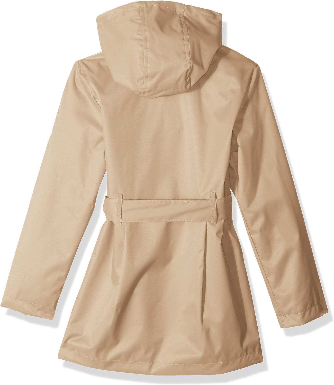Pink Platinum Little Girls Cheetah Trench Coat 4, Khaki
