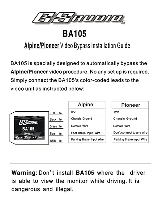 Avh Pioneer Pioneer Parking Brake Bypass Wiring Diagram from images-na.ssl-images-amazon.com