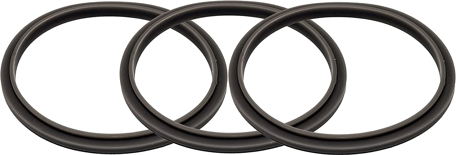 Blendin Set of 3 Gaskets with Lip, Compatible with Nutribullet 900W Blender Juicer Blades