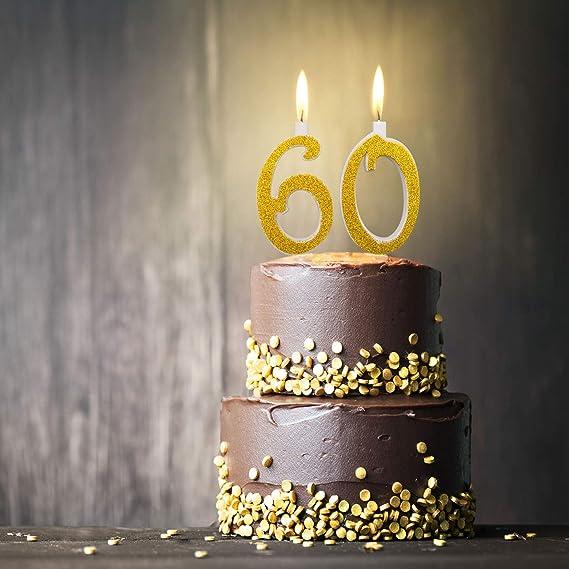 Candeline Maxi 60 Anni Per Torta Festa Compleanno 60 Anni