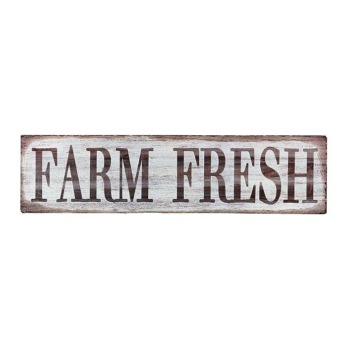 """Barnyard Designs Farm Fresh Retro Vintage Tin Bar Sign Country Home Decor 15.75"""" x 4"""""""