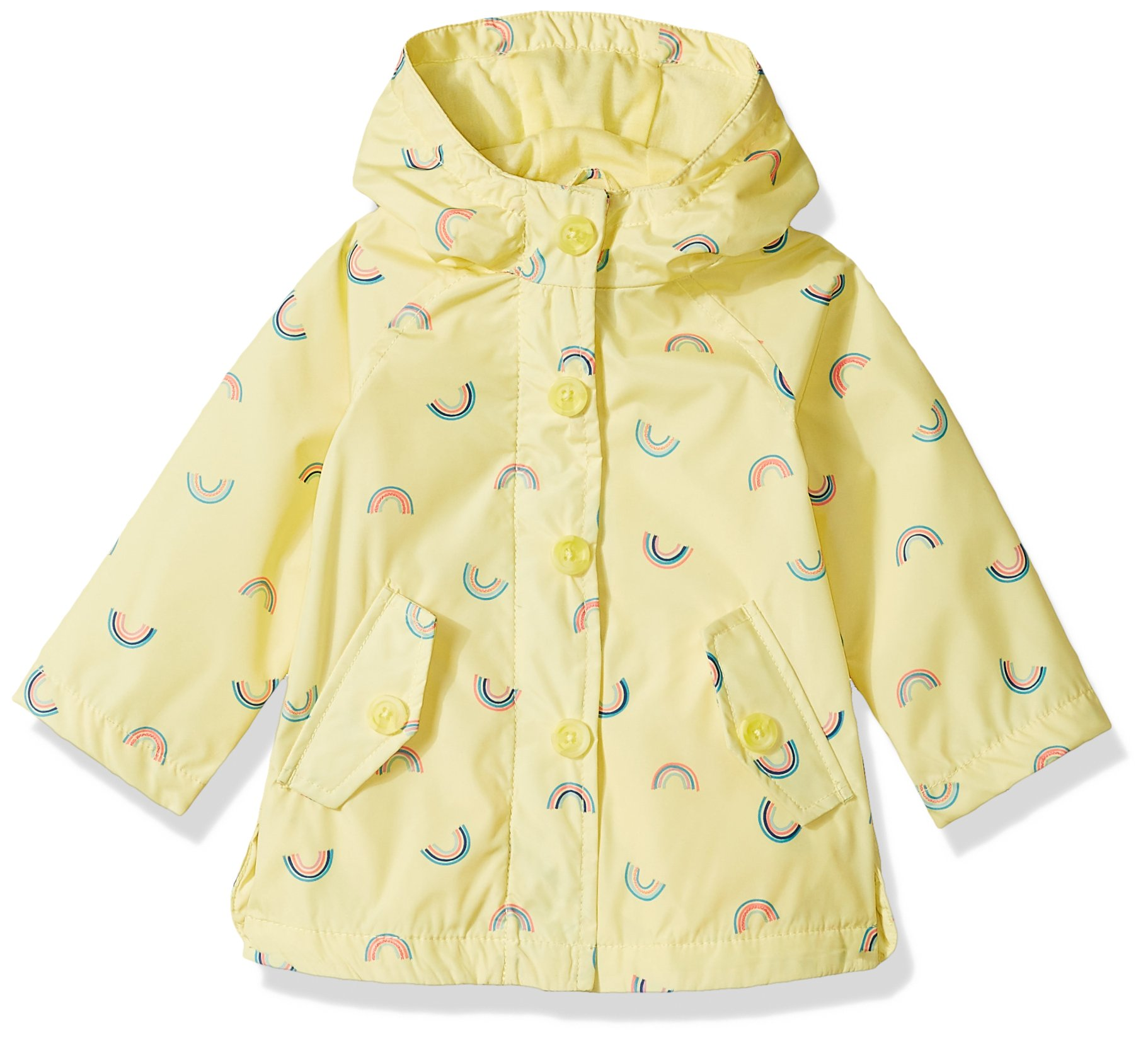 OshKosh B'Gosh Osh Kosh Baby Girls Sweet LIL' Rainslicker Rain Jacket, Rainbows Lemonade, 18M