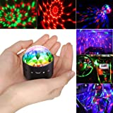 Disco Ball Party Lights,Portable LED DJ Mirror Lamp Sound Activated RGB Mini Car Magic Light For Home Birthday Karaoke KTV Dance Parties Wedding Xmas Car Outdoor Activities Decorations Gifts