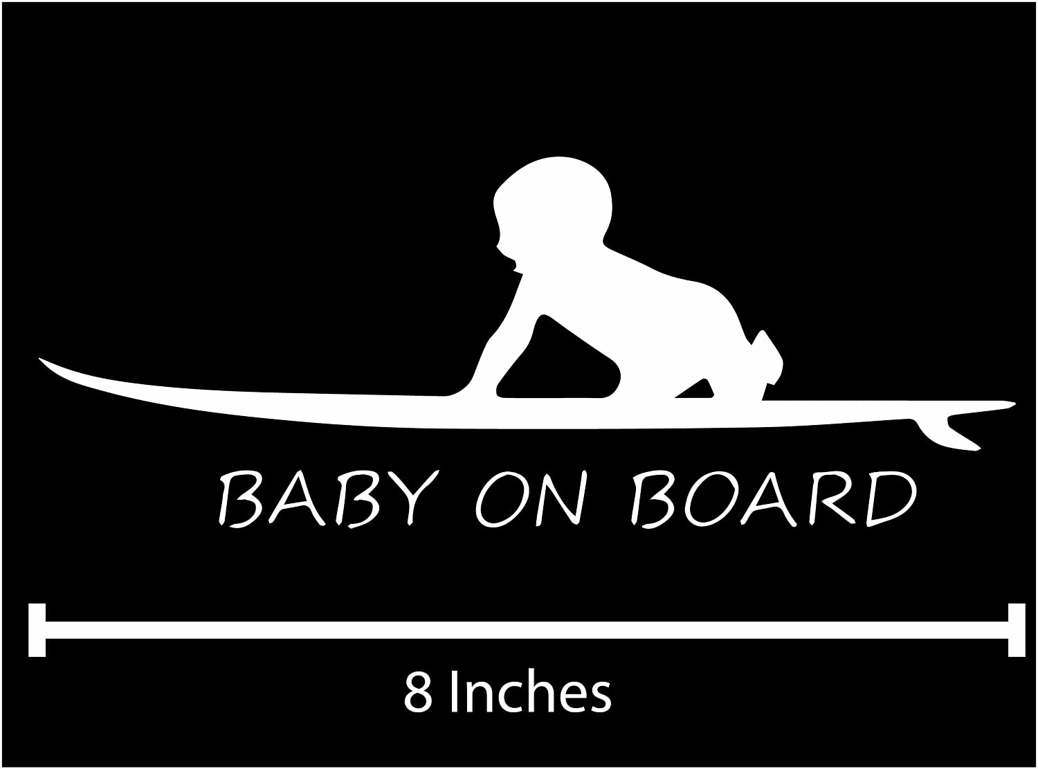 Baby on board surfing die cut vinyl car decal wall sticker amazon ca office products