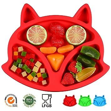Amazon.com: SJ bebé Mantel individual Fox silicona mantel ...