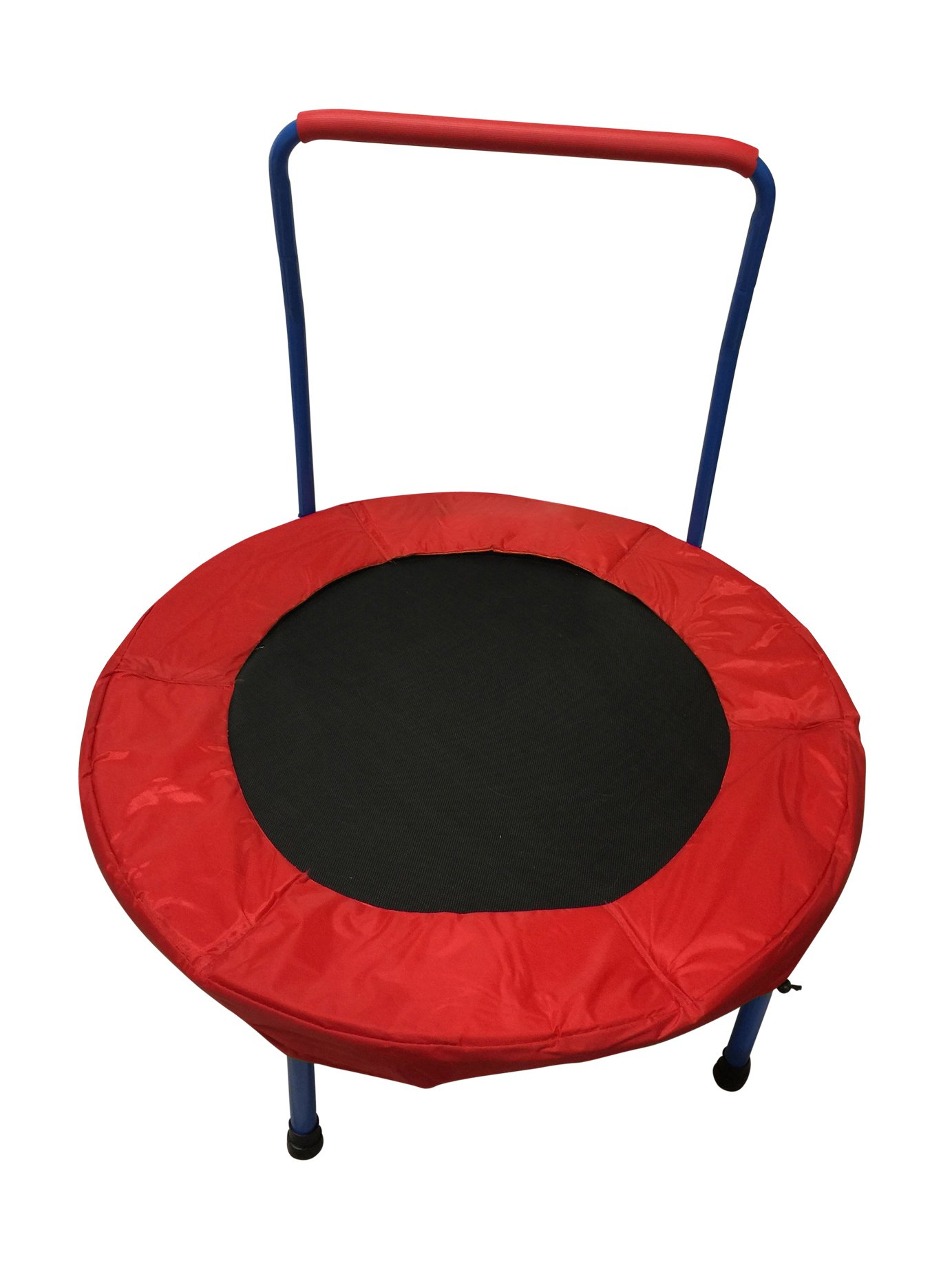 Portable Foldable Toy Trampoline for Kids – 36'' Perfect for Indoor and Outdoor Use | Sturdy Durable Ensure Safety | Build Confidence & Cognitive and Physical Strength Activities | Easy to Assemble