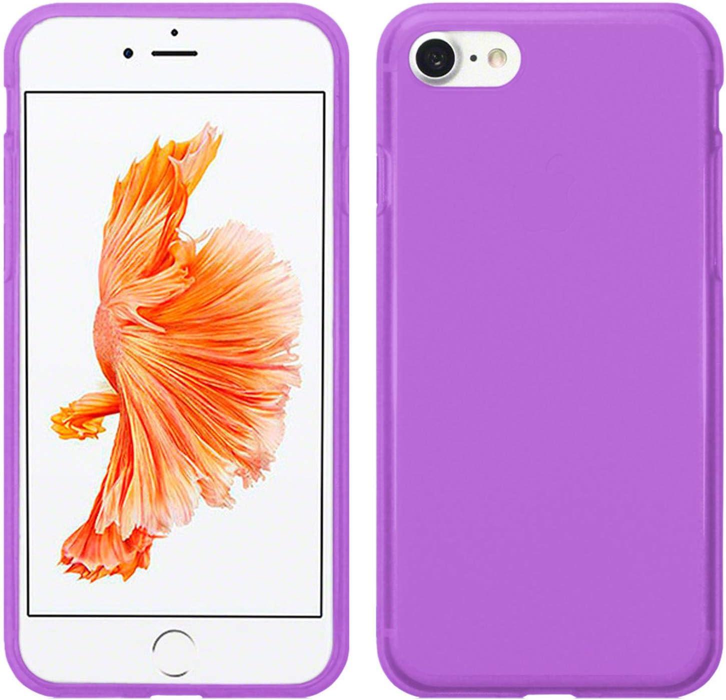 Silicona Ultrafina y Flexible Protector Resistente a Golpes Ca/ídas y Ara/ñazos Protector Pantalla Vidrio Templado para iPhone 7 TBOC Pack: Funda de Gel TPU Morada iPhone 8 4.7 Pulgadas