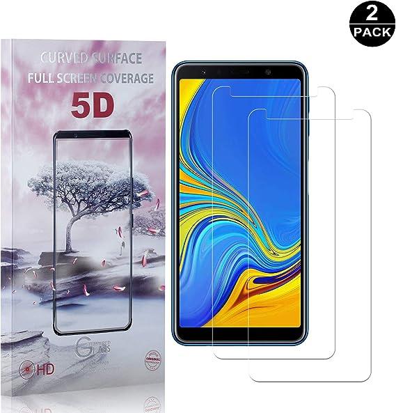 Bear Village/® Vetro Temperat per Galaxy A7 2018 1 Pezzi 9H Durezza 3D Touch Pellicola Protettiva in Vetro Temperato per Samsung Galaxy A7 2018 Alta Trasparente