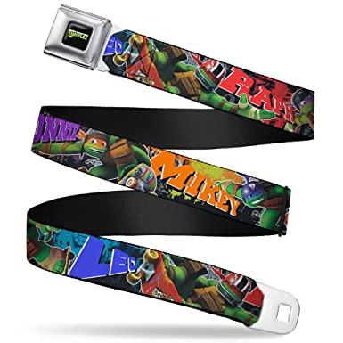 Amazon.com: Buckle Down Mens Seatbelt Belt Ninja Turtles ...