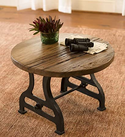 Reclaimed Wood And Metal Furniture Structural Steel Image Unavailable Leveragemedia Amazoncom Birmingham Round End Table In Reclaimed Wood And Metal