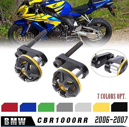 rojo LoraBaber Almohadillas protectoras para cuadros de motocicletas CBR1000RR 2006 2007 Protector de deslizadores del motor para Honda CBR 1000RR CBR 1000 RR 06 07