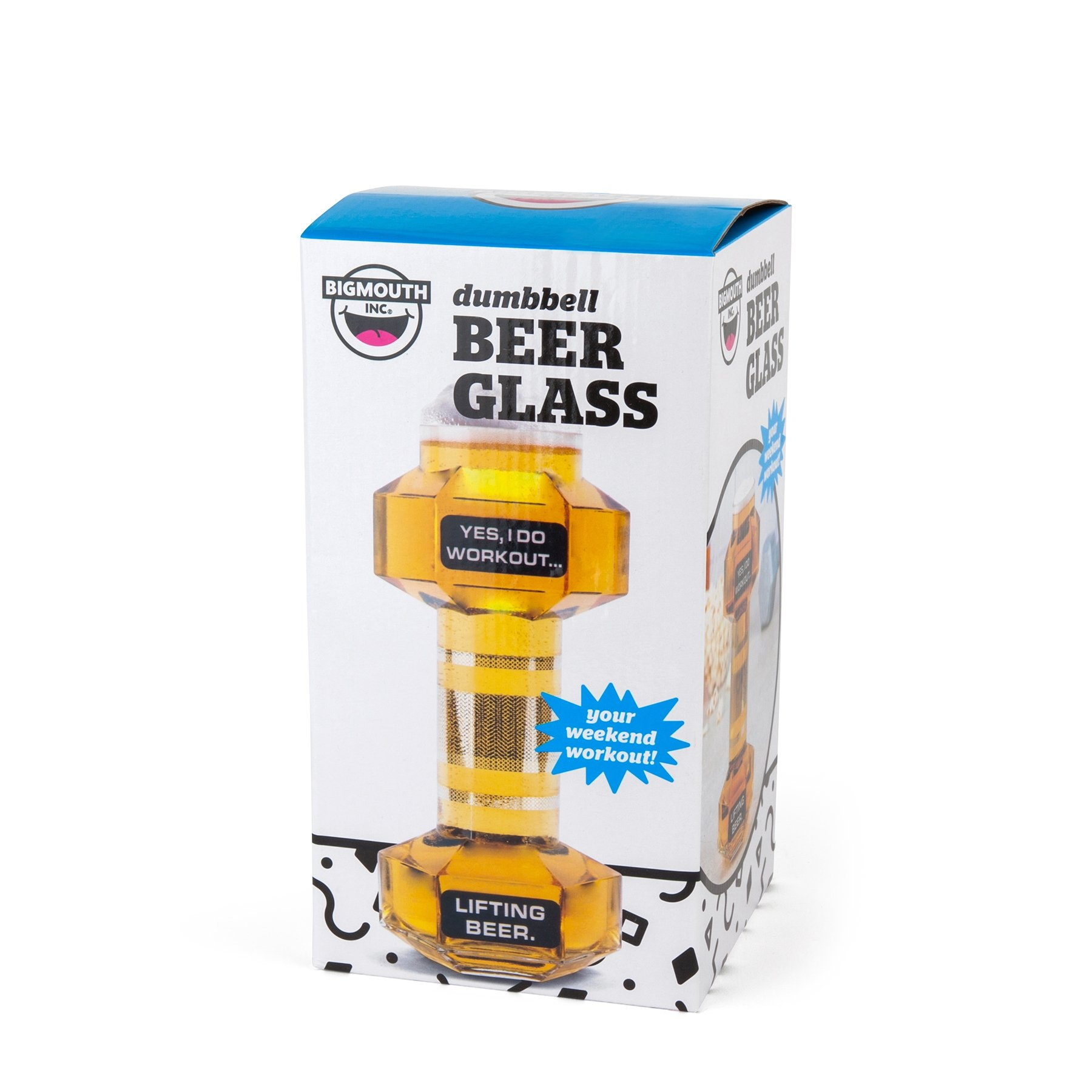 BigMouth Inc Dumbbell Beer Glass, Great Gag Gift for Weight Lifters, Exercise Fanatics, Made of Glass by BigMouth Inc (Image #2)