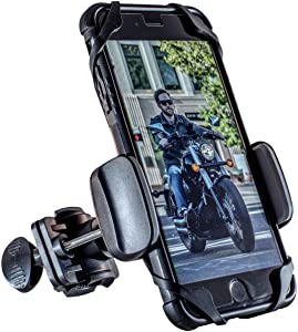 Dogo Cruiser: with SecureLock Technology Universal Motorcycle Phone Mount - Fits iPhone X, 8, 8Plus, 7, 7Plus, 6s, 6s Plus   Galaxy S8, S7, S6   LG or HTC - Wind Resistant up to 150MPH