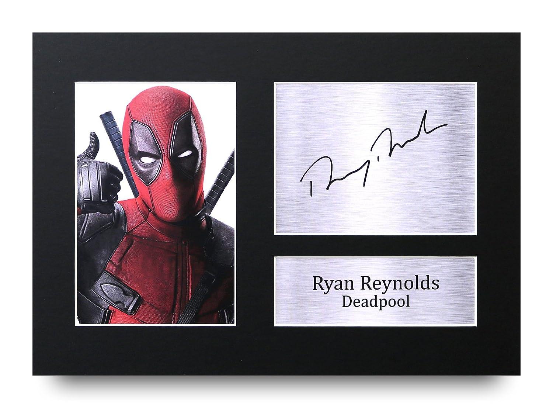 HWC Trading Ryan Reynolds Geschenke A4 Gedrucktes Autogramm Deadpool Druck-Foto-Bilderanzeige