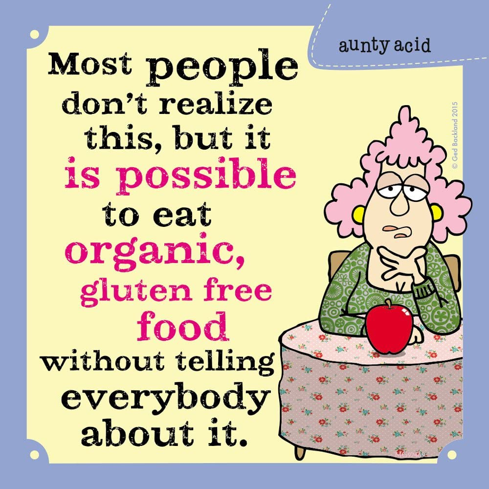 Tree-Free Greetings Premium Refrigerator Magnet, 3.5 x 3.5 Inches, Aunty Acid Organic & Gluten Free (MG97652)