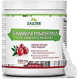 Zazzee D-Mannose Powder Plus, 67 Servings, 6.5 Ounces, Plus 5 Billion CFU Probiotics, Enhanced with Pure Cranberry Juice…