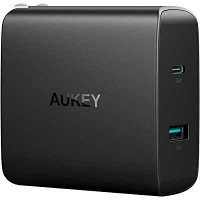 【急げ】AUKEY 折りたたみプラグ採用 PD対応 46W USB-C&10.5W USB急速充電器 PA-Y10 送料込1,599円【タイムセールより安い】