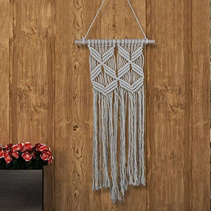 Amazon.com: Cotton Knit Wall Hanging,Macrame Hanging,Wall Art,Wall ...