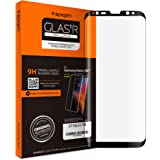 【Spigen】Galaxy S8 Plus ガラス フィルム, [ 曲面スクリーン対応 全面液晶保護 9H硬度 發油加工 ] GLAS.tR SLIM ギャラクシーS8 プラス ガラスフィルム (Galaxy S8 Plus, ブラック)