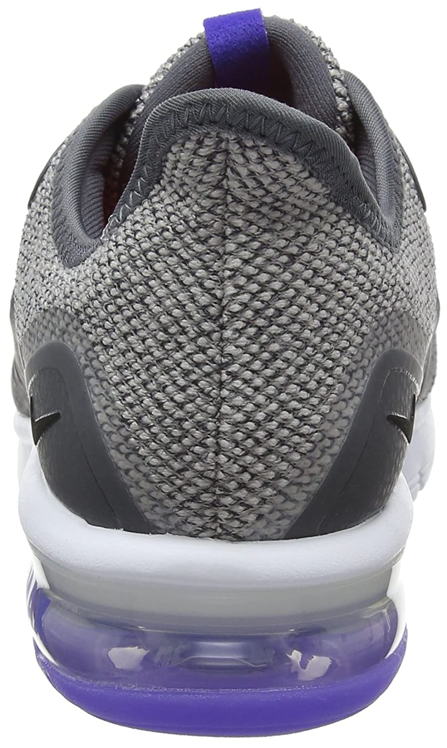 NIKE Women's Air Max Sequent 3 Running Shoe B07144JJ8K 8 B(M) US|Dark Grey/Black-moon Particle