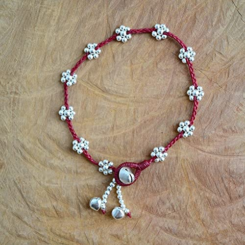 Handmade Red Beautiful Daisy Boho Anklet Bracelet For Girls Women Cute Simple Birthday Gift Her Bohemian Anklets Jewelry Gifts Ankle