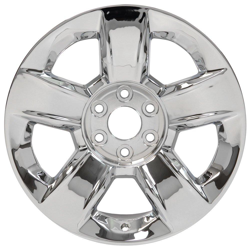 Amazon.com: 20x9 OEM Wheel fits GM Trucks & SUVs - Chevy Silverado 1500  Style 5 Spoke Chrome Rim, Hollander 5651: Automotive