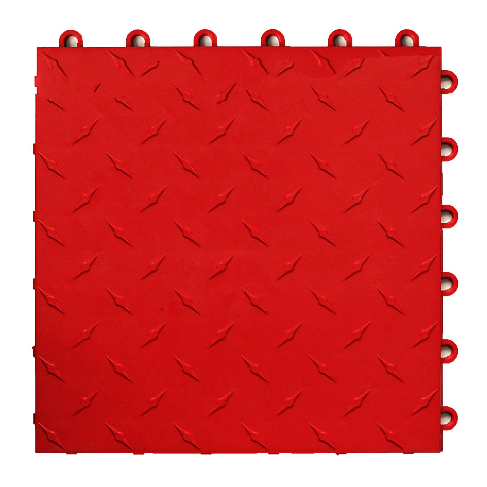 Speedway Garage Tile 789453O-50 Diamond Garage Floor 6 LOCK Diamond Tile 50 Pack,Red by Speedway Garage Tile Mfg.