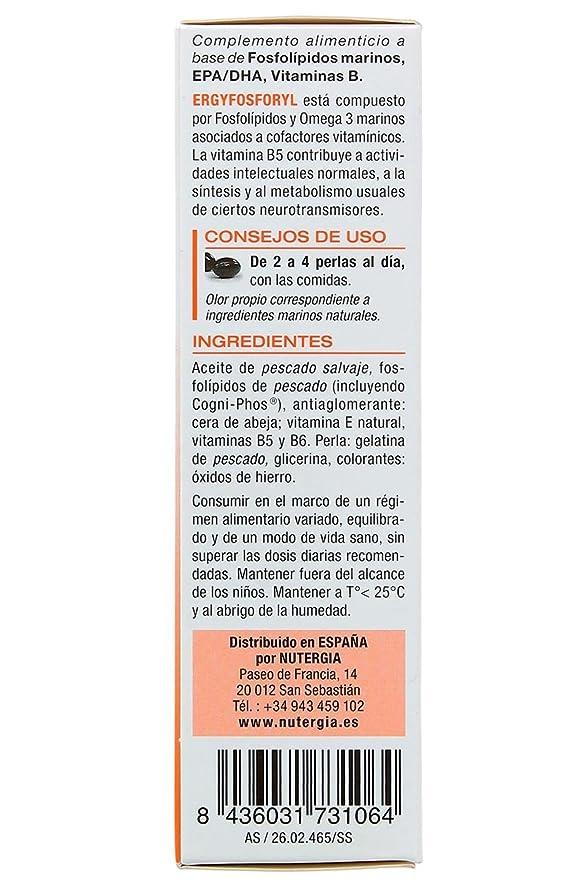 Nutergia Ergyfosforyl Complemento Alimenticio - 60 Cápsulas: Amazon.es: Salud y cuidado personal