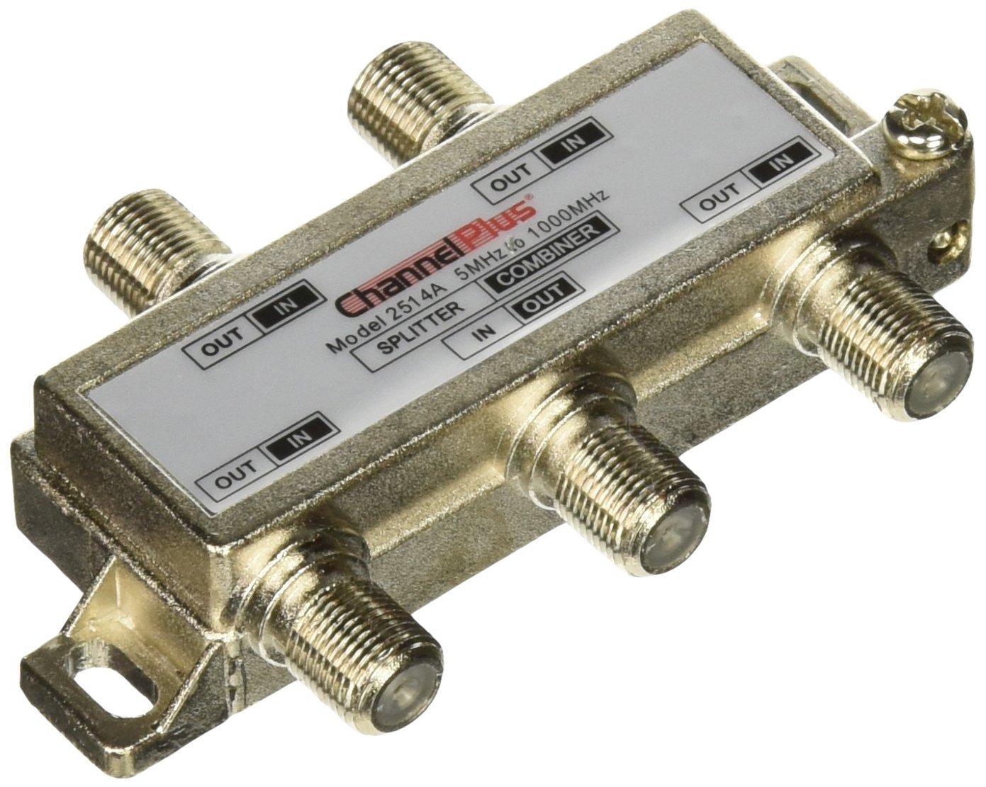 Channel Plus 2514 DC + IR Passing 4-Way Splitter/Combiner
