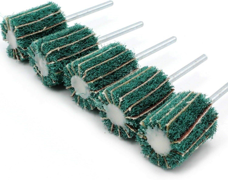 Dremel Proxxon Lot de 5 bandes abrasives pour ponceuse 120 grains avec intiss/é pour Dremel Proxxon Accessoire multifonction