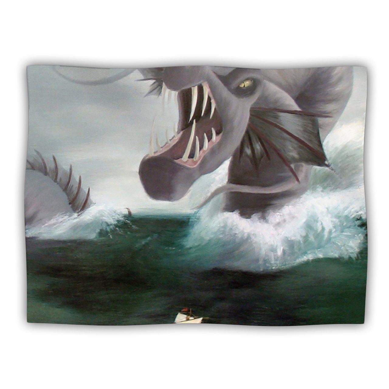 Kess InHouse Sophy Tuttle Vessel  Green bluee Pet Dog Blanket, 40 by 30-Inch