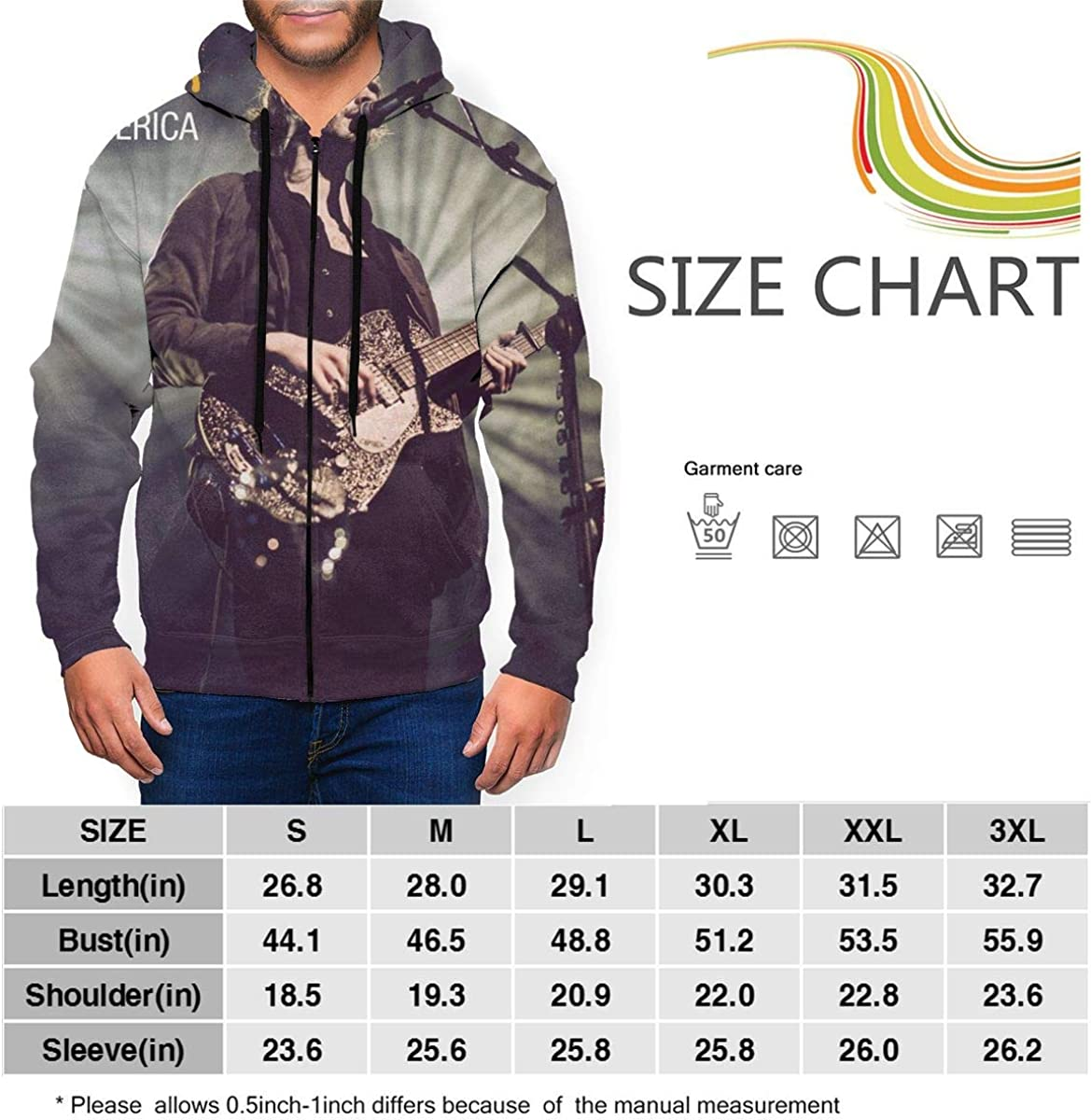 AmyMcLeod Hozier Mens Basic Full Zip Sweatshirt