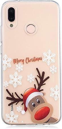 Ostop Red Christmas Huawei P20 Lite Case, Soft TPU: Amazon.co.uk ...