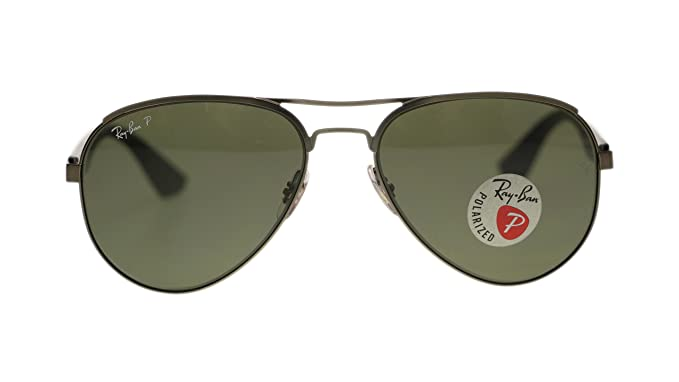 984283d382 Ray Ban Mens Sunglasses RB3523 029 9A Matte Gunmetal Green Polarized Lens  59mm Authentic