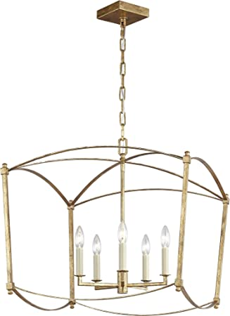 Feiss F3325 5adb Thayer Lantern Candle Chandelier 5 Light 300 Watts 23 H X 23 W Antique Guild Amazon Com
