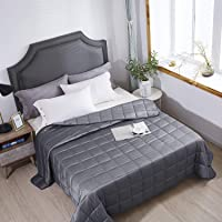 HomeSmart Products Weighted Blanket King Size 9kg 225x265cm - A True King Size Comforter - Provides Medium Pressure…