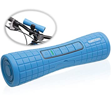 Ivation BOOMER: altavoz ESTÉREO Bluetooth recargable superportátil con contestador de llamadas telefónicas.
