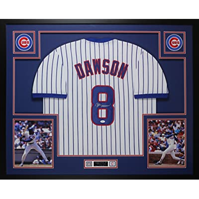 official photos 458a8 4849f Andre Dawson Autographed Pinstriped Chicago Cubs Jersey ...