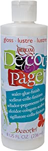 DecoArt Decoupage Glue, 8-Ounce, Gloss Finish