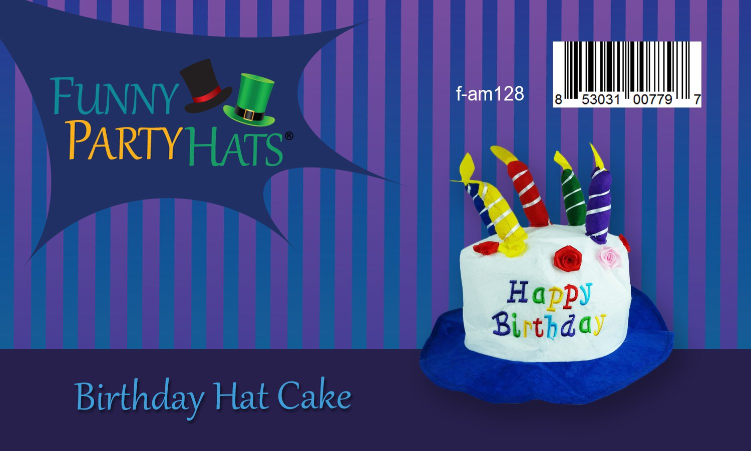 Amazon Felt Birthday Hat Cake With Candles Party Hats Unisex By