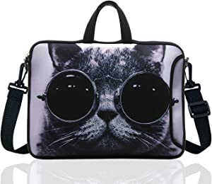"17.3-Inch Laptop Shoulder Sleeve Bag Case With Handle For 17 17.3."" Acer Dell Hp (Grey Cat)"
