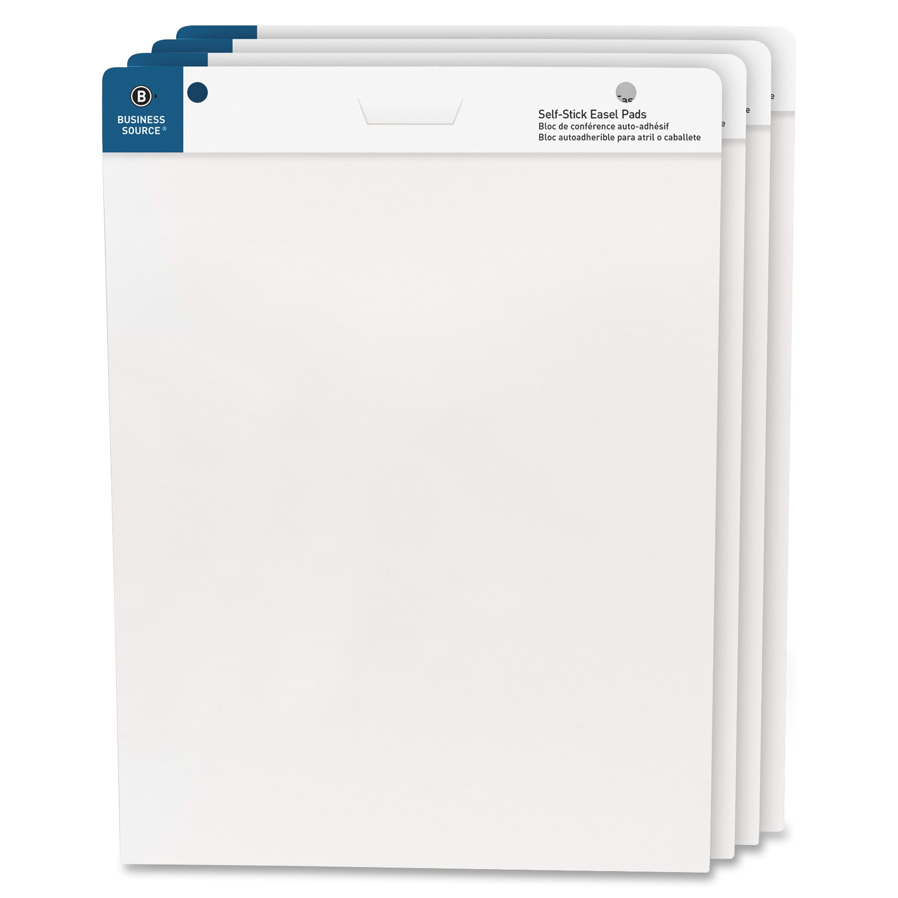 Business Source 25''x30'' Self-Stick Easel Pads, 4/Pack (38592) by Business Source