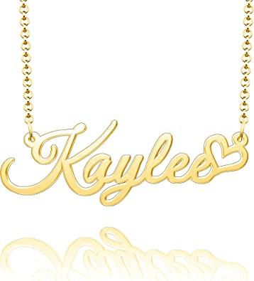 96 STYLES ANY NAME Personlized Sterling Silver Gold Plated Custom Chain Necklace