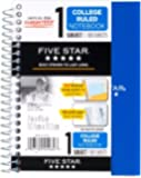 """6 Pack Of Mead Five Star Personal Spiral Notebook, 7"""" x 4 3/8"""", 100 Sheets, College Rule, Assorted colors (MEA45484)"""