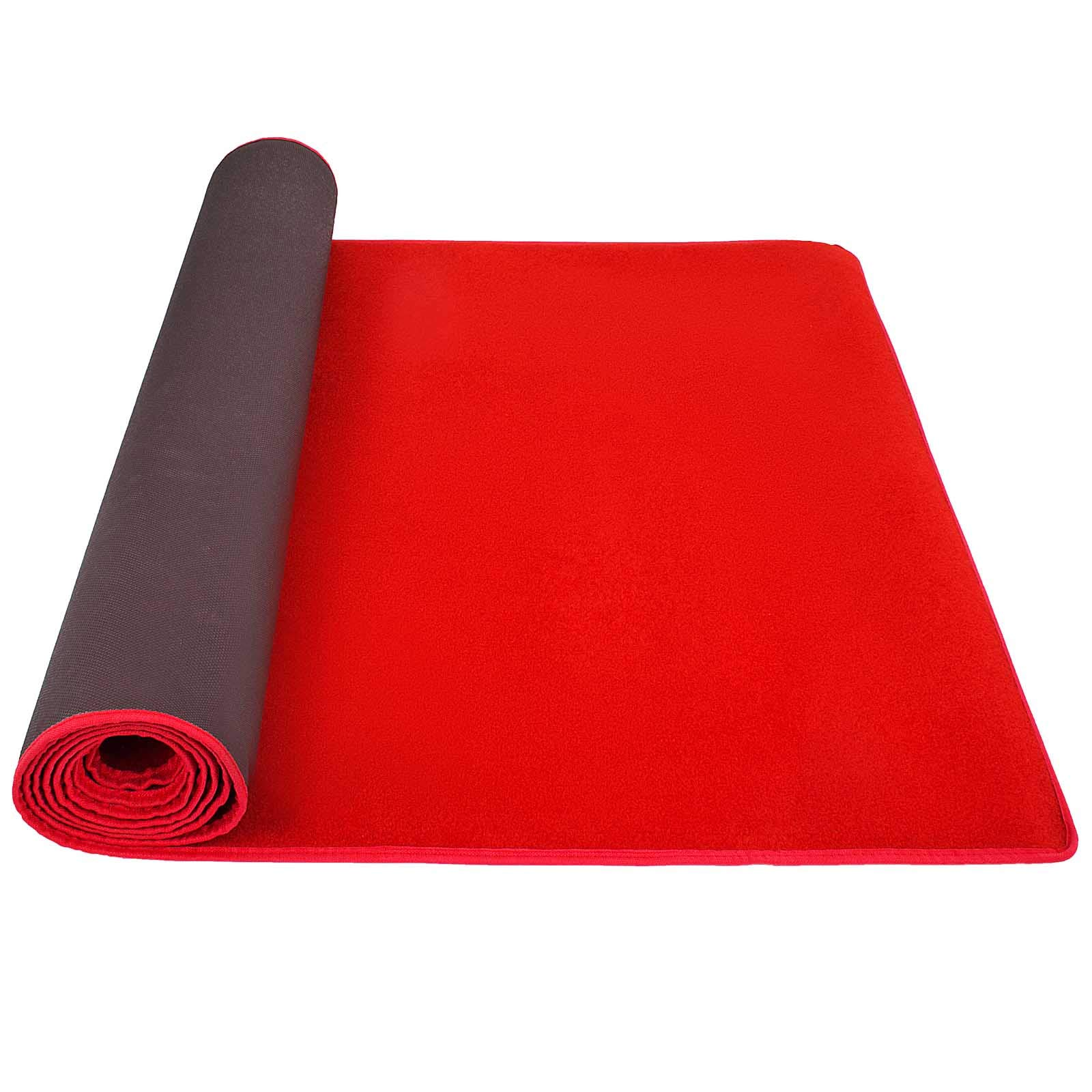 Happybuy 3.3Ft X 13Ft Large Red Carpet Runner Rug Solid TRP Rubber Backed Hollywood Runner Carpet Non-Slip Stair Patio Party Decor Wedding 1M X 4M Aisle Floor Runner Rug - Various Sizes (Red, 3x13Ft) by Happybuy (Image #3)