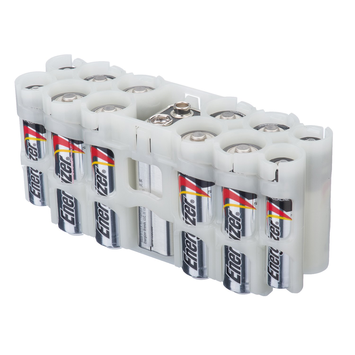Storacell by Powerpax A9 Multi-Pack Battery Caddy, Glow-in-the-Dark Moonshine